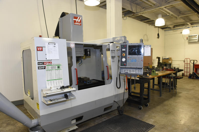CNC machining equipment in the makerspace at the University of Pittsburgh's Manufacturing Assistance Center in Homewood.