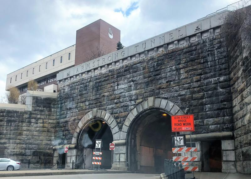 The Armstrong Tunnel was built in 1926 as a portal to Pittsburgh's South Side. It's one of only a few tunnels with a pedestrian walkway.