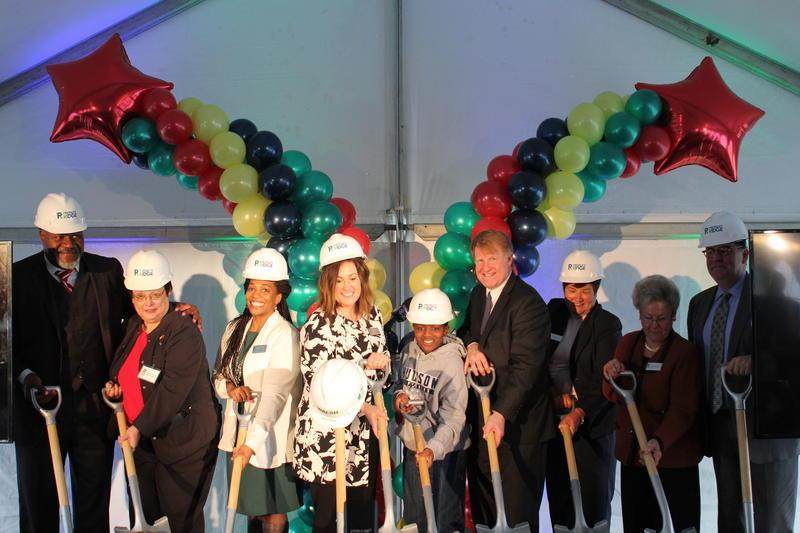 Pressley Ridge officials broke ground for a new school on Marshall Avenue.