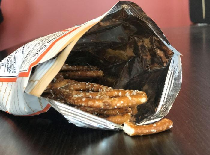 Chip bags, like the one pictured, are one of the types of layered plastic packaging that can't be recycled.