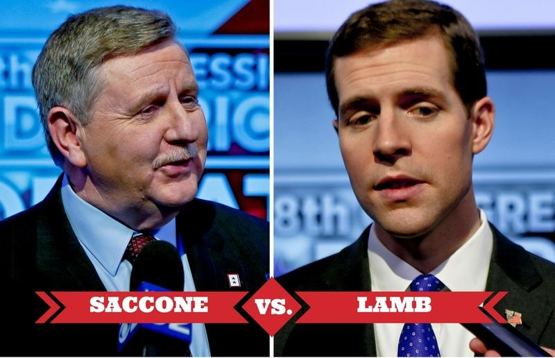 Republican Rick Saccone, left, and Democrat Conor Lamb.
