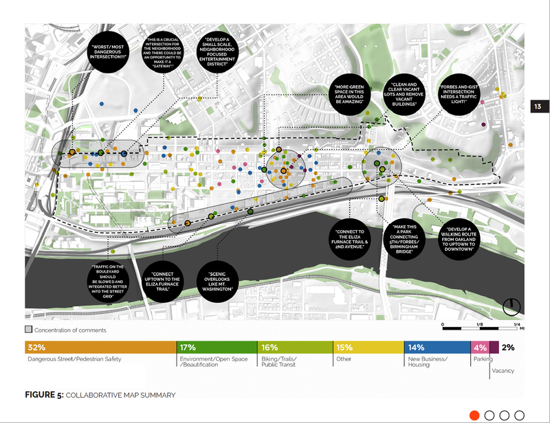 """The EcoInnovation District covers West Oakland and Uptown. This """"collaborative map"""" forms part of the final neighborhood plan, which took more than two years and multiple rounds of community engagement to create."""