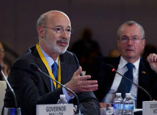 Gov. Tom Wolf speaks at the National Governor Association winter meeting in Washington, on Feb. 25, 2018.