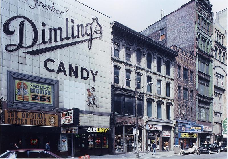 A stretch of Liberty Avenue in Downtown Pittsburgh when it was the city's red light district.