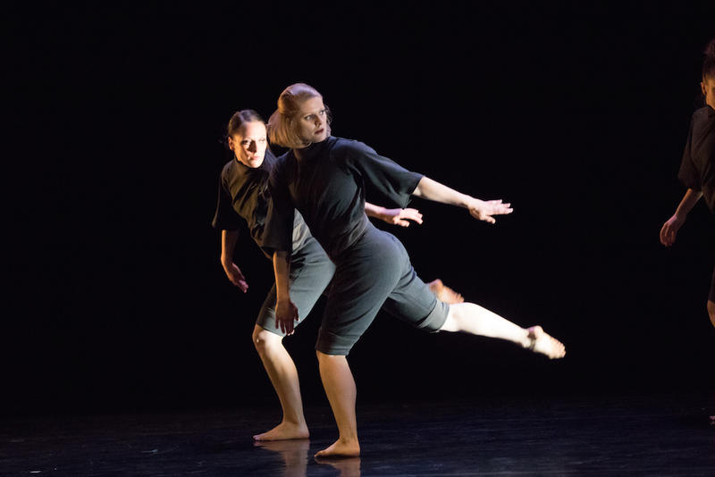 Left to right: Attack Theatre dancers Sonja Gable and Kaitlin Dann.