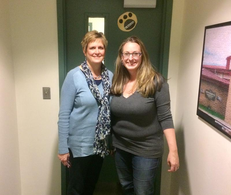 Bentleyville marketing consultant Jennifer Cario (right) founded the nonprofit Bentworth Blessings to provide food for low-income students in her school district, with help from Bentworth Elementary School principal Susie Macik (left).