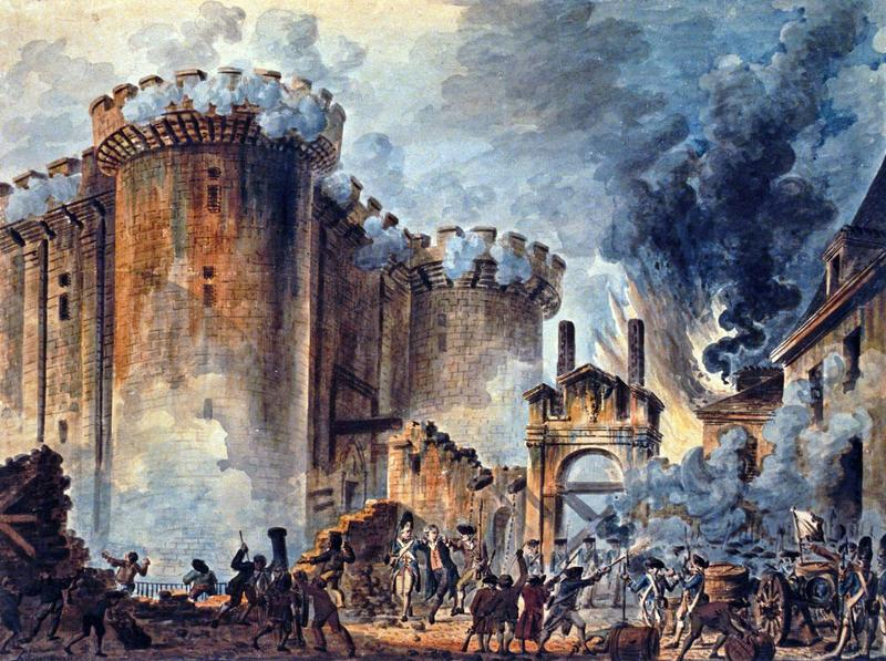 The storming of the Bastille on July 14, 1979.
