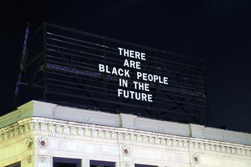 The Last Billboard message that was removed last week from a roof in East Liberty