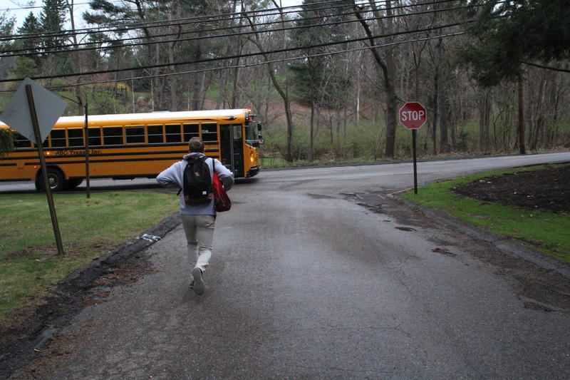Ben Peterson, 16, makes it to his bus every morning by 6:50 a.m. and says it would be nice for him to start classes later and sleep in a little more.