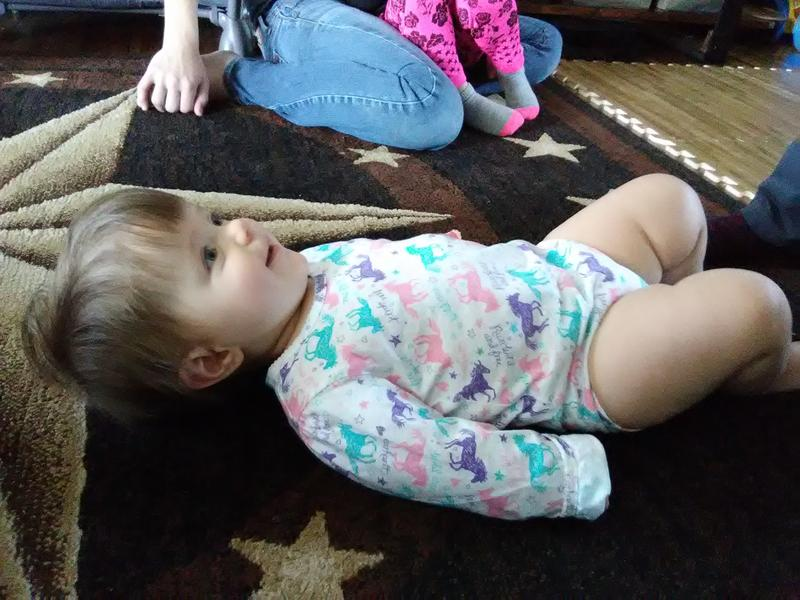 Kelsey Bushnell is a participant in a research study that helps developmentally delayed babies reach important milestones through play therapy.