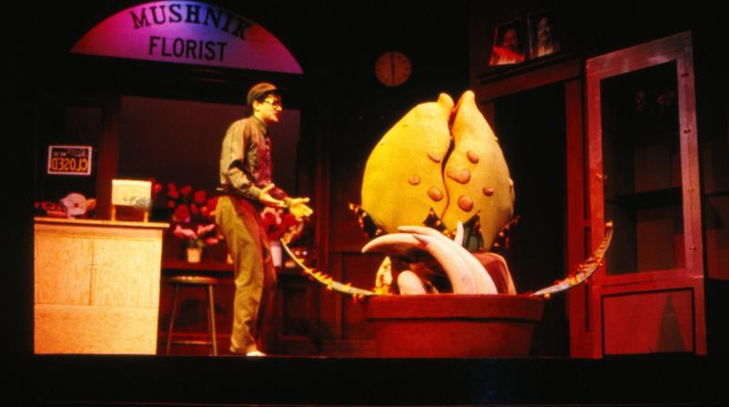 "A 1986-87 production of ""Little Shop of Horrors"" at the Playhouse"