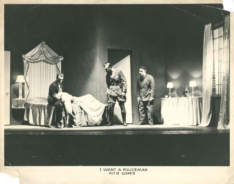 "A 1939 production of ""I Want A Policeman"" at the Playhouse"