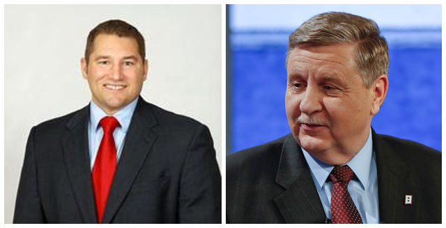 State Sen. Guy Reschenthaler (R - Jefferson Hills) (left) is competing against state Rep. Rick Saccone (R - Elizabeth) in the May 15 primary.