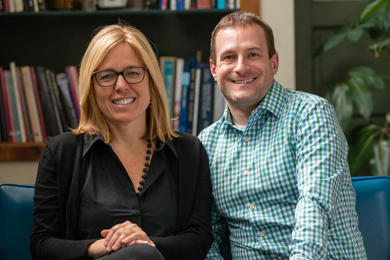 Sprout Fund co-founders Cathy Lewis Long, left, and Matt Hannigan.