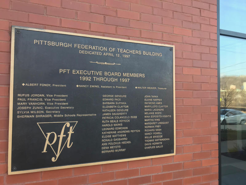 The Pittsburgh Federation of Teachers office building on the South Side.