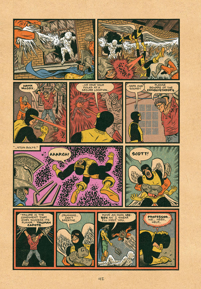 "A page from Ed Piskor's ""X-Men: Grand Design"""
