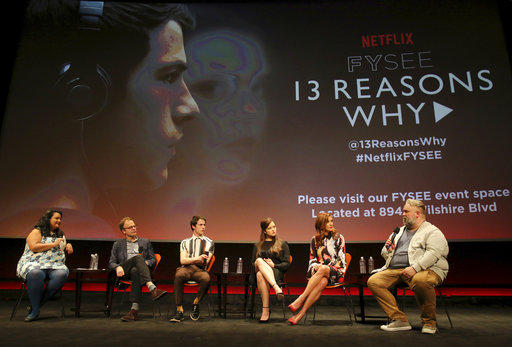 "Cast members and the director of the Netflix show ""13 Reasons Why"" take part in a Q&A."