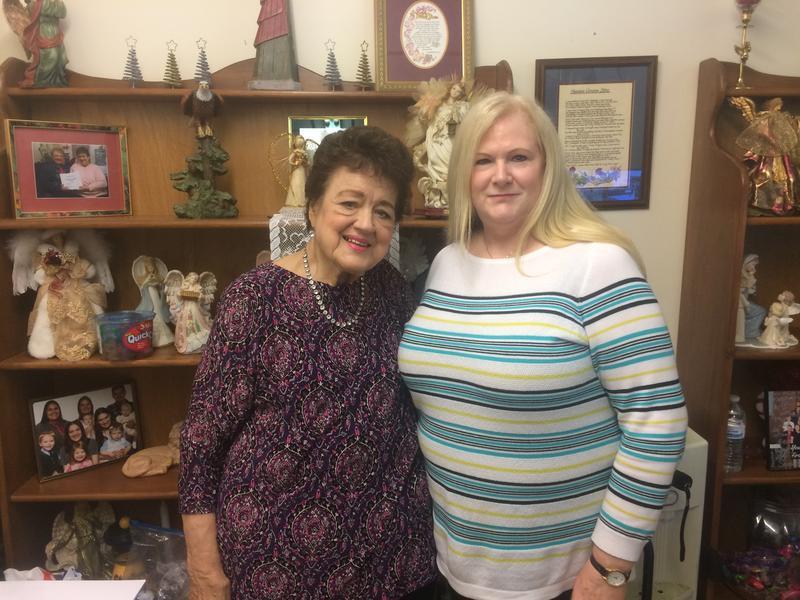 Jeanne Allender (left), 83, of Washington has run Washington Christian Outreach for 40 years.