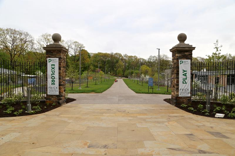 The entrance to Frick Park on Friday, July 7, 2017.