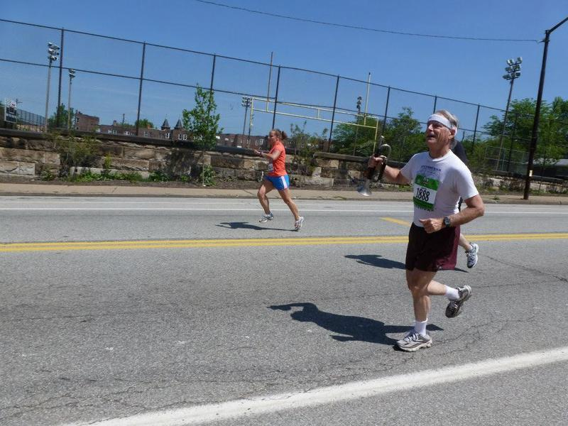 Jerry Agin competes in the 2012 Pittsburgh Marathon