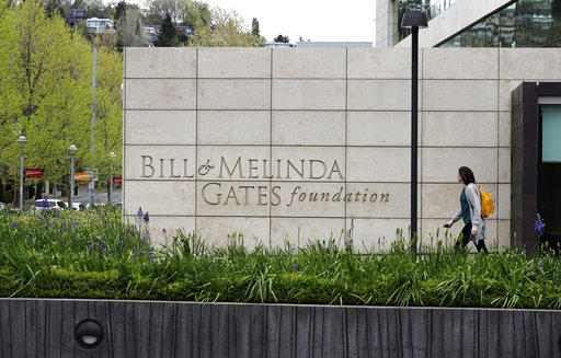 This April 27, 2018 photo shows the headquarters of the Bill and Melinda Gates Foundation in Seattle.