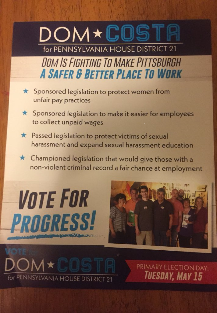 Part of the mailing Dom Costa is sending to Democrats