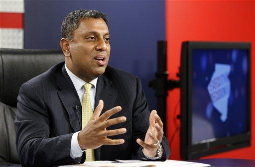 D. Raja appears in a debate against Rich Fitzgerald, while running for Allegheny County Executive in 2011.