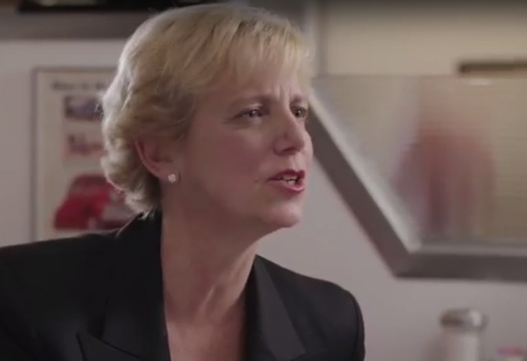 This screengrab captures Laura Ellsworth in one of her campaign videos.
