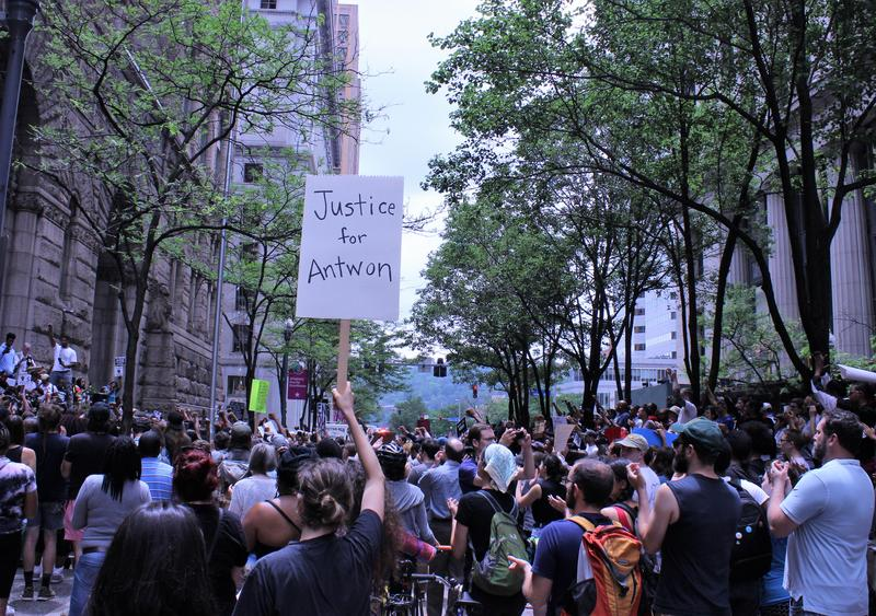From Forbes to Fifth avenues, people filled the street to protest the killing of 17-year-old Antwon Rose Jr., who was shot and killed by an East Pittsburgh police officer on Tuesday, June 19, 2018.