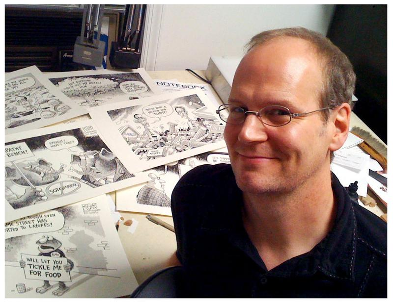 Cartoonist Rob Rogers is at the heart of the Post-Gazette's latest editorial page controversy