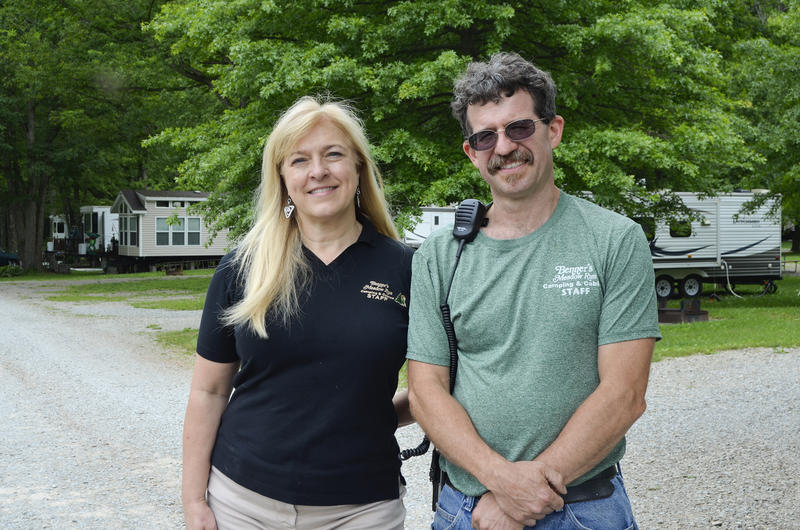 Marylou Rohlf owns Benner's Meadow Run Camping & Cabins near Farmington in Fayette County. Chris Miller handles IT and maintenance for the campground.