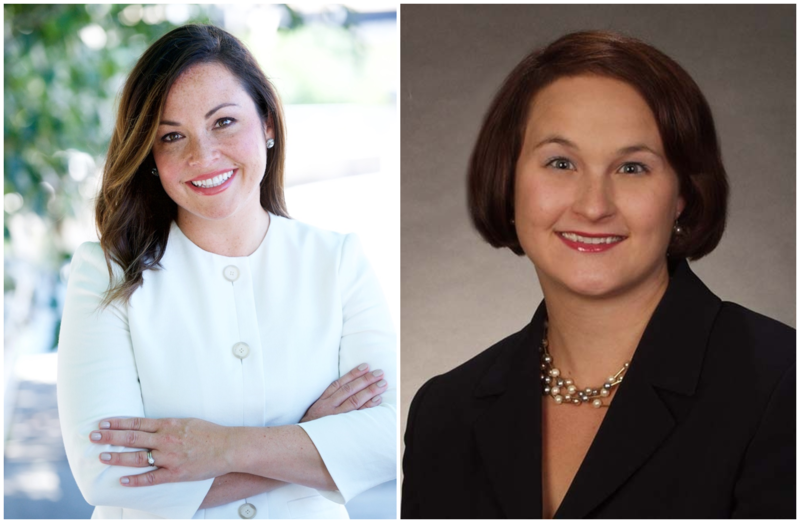 Allegheny County controller Chelsa Wagner (left) and divorce attorney Lisa Bennington were first elected to the state legislature in 2006. At the time, they were the only women in Allegheny County's state House delegation.