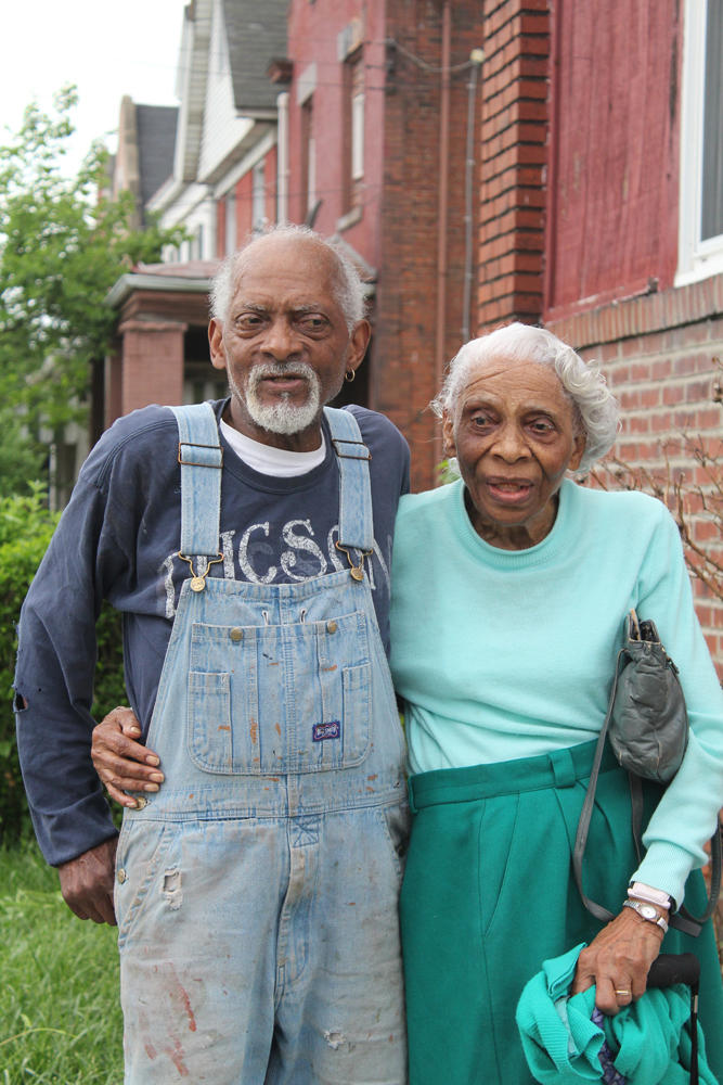 A mother and son in Homewood, as photographed for the Faces of Pittsburgh exhibit