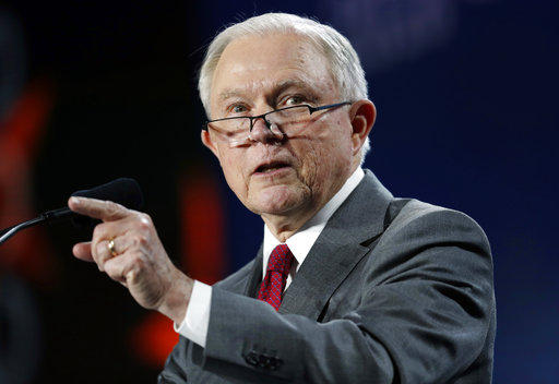 U.S. Attorney General Jeff Sessions speaking in Denver in early June. He visited Scranton, Pa. to talk about his immigration policies and respond to recent enforcement policy changes by Philadelphia's government.
