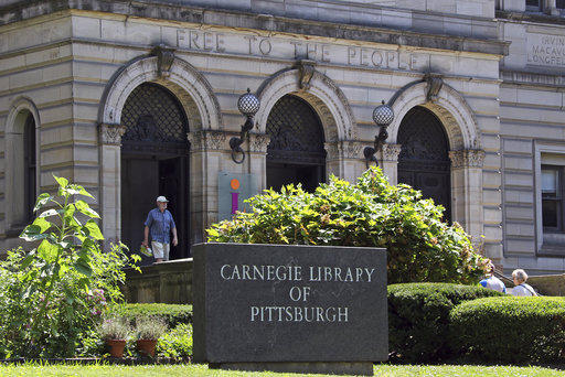Pictured is the Carnegie Library of Pittsburgh in the Oakland section of Pittsburgh on Friday, July 20, 2018.