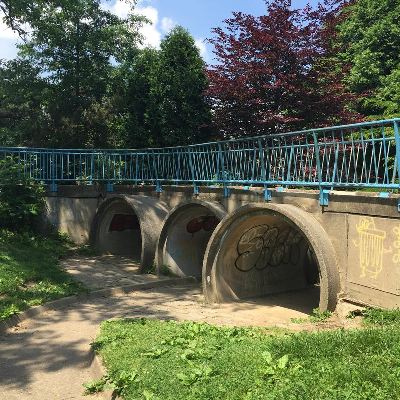 These tunnels in Frick Park are among the sites for which Art in Parks proposals are sought.