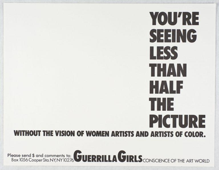 The Guerrilla Girls critiqued the art world with posters like this one