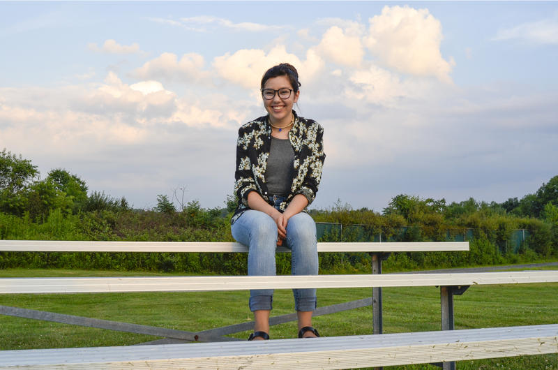 Anaïs Peterson used to play soccer at this Indiana Township field near the site of a new natural gas well pad. She's organizing a march in Pittsburgh on climate change and is calling for a stop to expanding fracking in the county, among other issues.