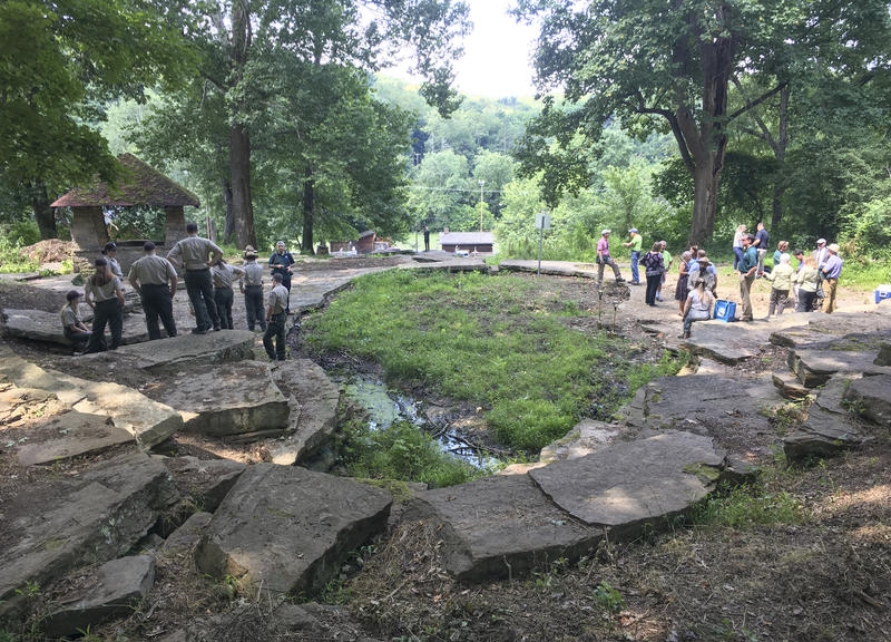 Thursday marked a groundbreaking ceremony for the restoration of South Park's Cascades, a rocky feature built 90 years ago where locals could cool off in wading pools.