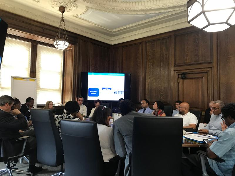 The board held its first meeting Friday, July 13 at the Urban Redevelopment Authority, but expects to hold its next meeting in City Council Chambers to allow for greater public access.