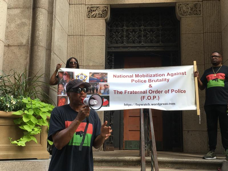 Khalid Raheem, who organizes the Committee for a Civilian Police Review Board of Allegheny County, spoke in support of the proposed board before the Allegheny County Council meeting July 10, 2018.