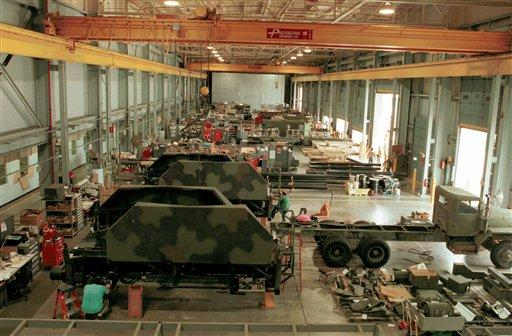 Workers overhaul missle systems at the Letterkenny Army Depot in Chambersburg, Pa.