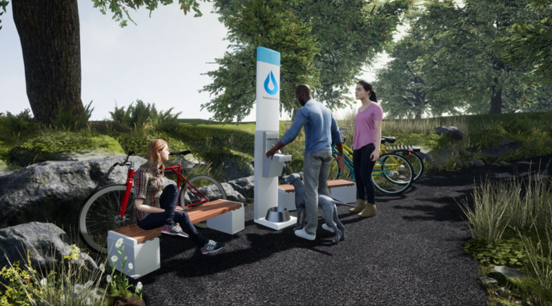 Peoples Water also plans to offer drinking water stations in public places around the city.