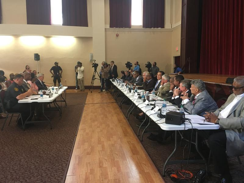 Democratic state lawmakers held a hearing on police-community relations at Hosanna House in Wilkinsburg Tues., July 17, 2018.