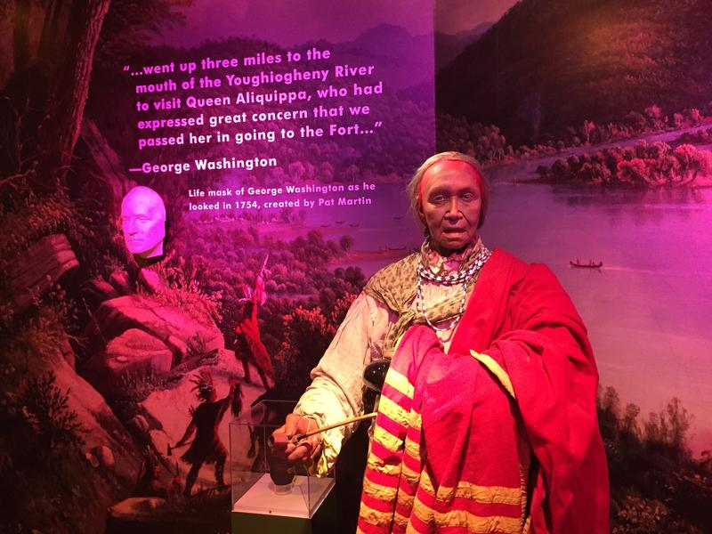 Queen Aliquippa's likeness in the Heinz History Center's Pittsburgh: A Tradition of Innovation exhibit.