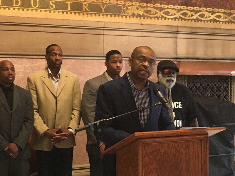 """Reggie Shuford, Executive Director of the ACLU of Pennsylvania, announced the launch of the """"Smart Justice"""" Campaign in Allegheny County Thurs., July 26, 2018."""