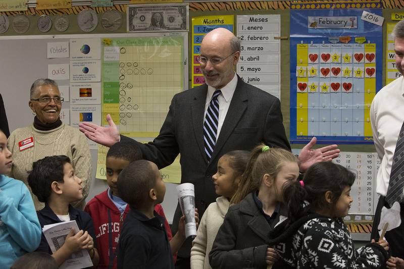 Gov. Tom Wolf visits Alexander D. Goode school in York, Pa.