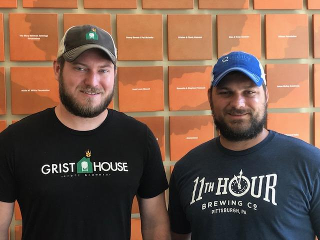 Brian Eaton, of Grist House brewery, and Matt McMahon, of Eleventh Hour brewery, are two of the people behind the Pittsburgh Brewery Guide.
