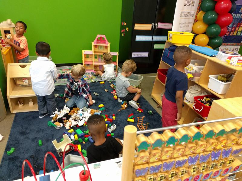 Children playing in the new early childhood classroom inside the Carnegie Science Center on Friday, August 24, 2018.