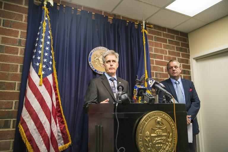 State Rep. Scott Conklin at a press conference Monday.